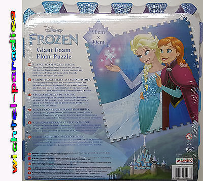 Girls Puzzle mat foam Frozen The Snow Queen Elsa & Anna Disney 90x90