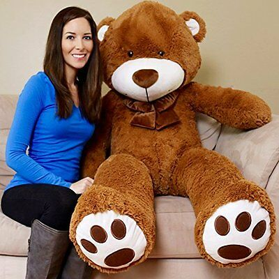 Valentine's Day 5 Feet Giant Brown Microfiber Teddy Bear Gift, Brown