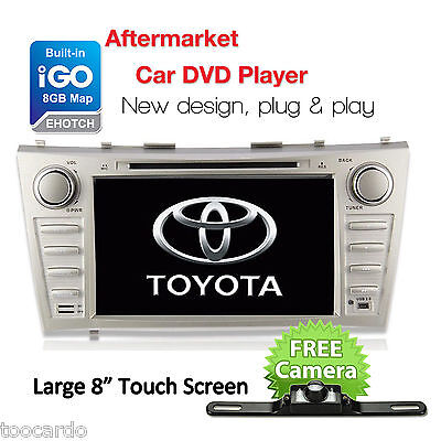 "8"" Car GPS DVD CD USB BT MP3 Player for Toyota Aurion Camry Radio+Camera+8GB Map"