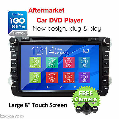 "8"" Car DVD Player GPS For Volkswagen VW Amarok Golf Polo Stereo USB Radio+Camera"