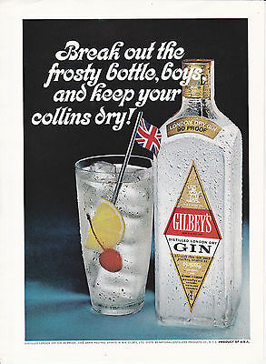 Original Print Ad-1967 Break out the frosty bottle boys & keep your collins dry