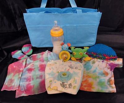 Reborn 0-3 mo  baby Grab & Go Complete Diaper bag doll bottle clothes toy paci