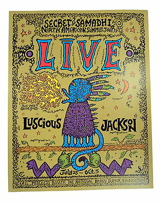 1997 Live & Luscious Jackson Tour Poster framed
