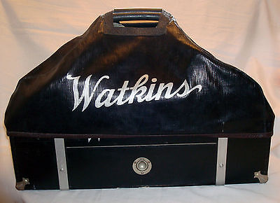 Vintage JR Watkins Medical Medicine Salesman Veterinary Carrying Bag Case Cover
