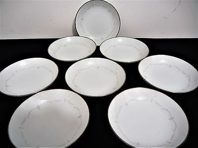 NORITAKE FINE CHINA FRUIT NAPPY BOWLS lot of 8 WHITEBROOK 6441 200484 EXCELLENT