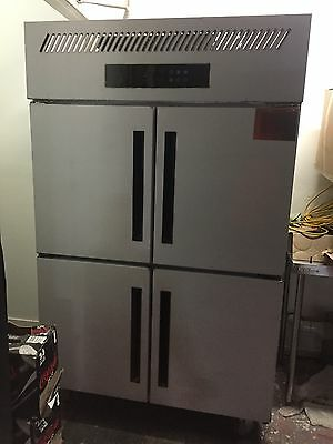 Upright Commercial Freezer 1200 Liters Italian  Compressor Stainless Steel