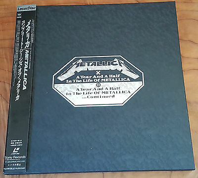 METALLICA - A Year And A Half In The Life 1999 JAPANESE OBI 2 LASER DISCS NTSC