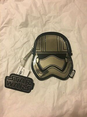 Disney Parks Star Wars Stormtrooper Change Coin Purse Bag By Loungefly NEW
