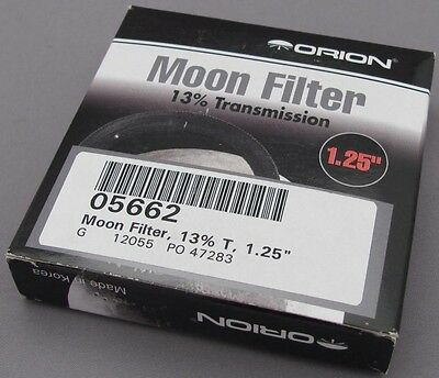 """Orion Moon Filter 13% Transmission 1.25"""" #05662 - NEW"""