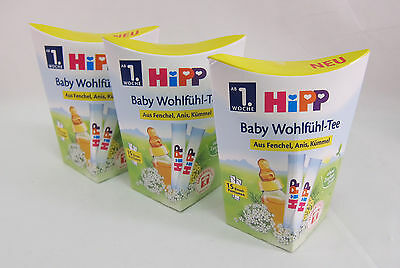 3 BOXES of HiPP Wellness Tea for babies -ORGANIC -Made in Germany-