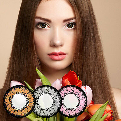 Lotus 2tone Circle Lenses Brown Colored Contact lenses Cosmetic Lens with Power