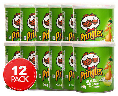 12 x Pringles Sour Cream & Onion 36g