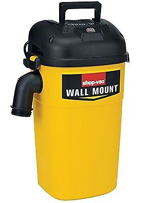 Shop-Vac 3942300 5 gal 4.0 Peak HP Wall Mount Wet/Dry Vacuum Yellow/Black 199495