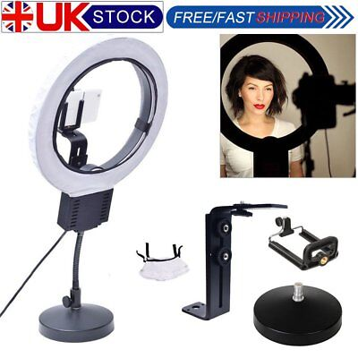 Fotoconic 40W 32cm Ring Light with Table Stand + Camera Phone Holder Diffuser