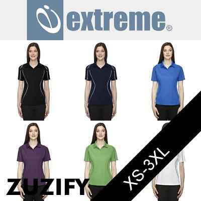 Extreme Ladies Performance Textured Polo Shirt. 75107