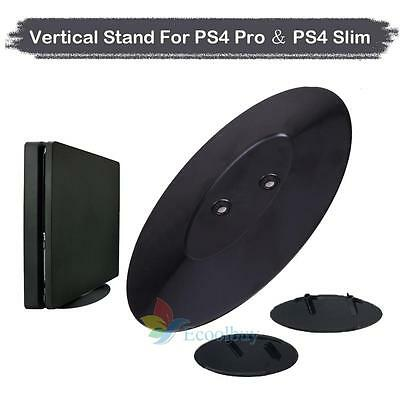 Vertical Stand Mount Dock Holder Base For Sony PlayStation 4 PS4 & Slim Consoles
