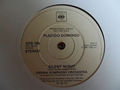 "Placido Domingo  Silent Night 7"" Vinyl"