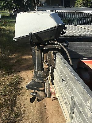 5hp johnson outboard motor and tank