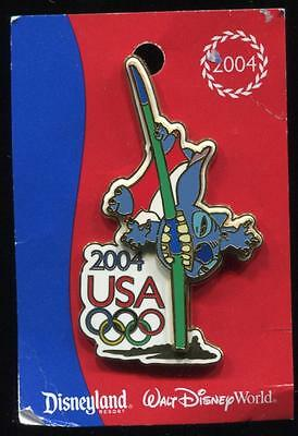 WDW USA Olympics Logo 2004 Decathlon Pursuit Stitch Pole Vault Disney Pin 31837