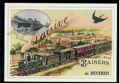 BEVEREN  - train souvenir creation moderne - serie limitee numerotee