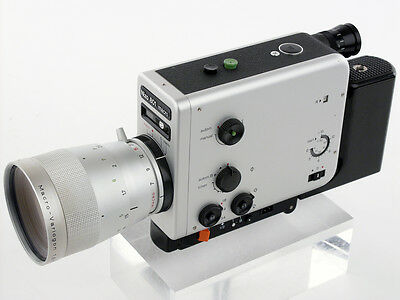 Braun Nizo 801 macro film cine MOVIE camera Super 8mm Auto-B TIME LAPSE 11x ZOOM