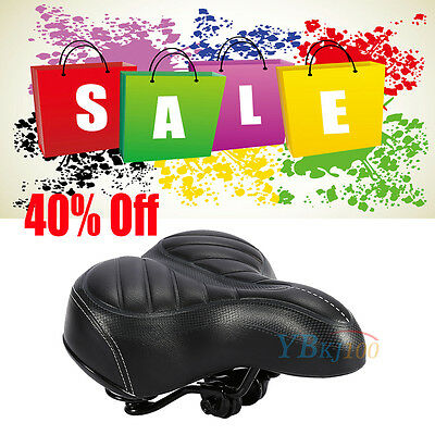 Sports Wide Big Bum Extra Comfy Bike Bicycle Gel Cruiser Soft Pad Saddle Seat UK