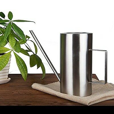 Calunce long Cylindrical stainless steel Brushed Solid SUS304 watering can, long