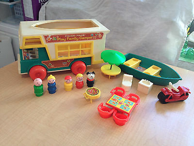 Vintage Fisher Price Little People Play Family Camper 994