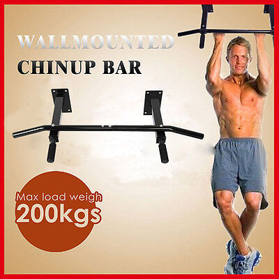 Fitness Wall Mounted Pull Up Bar Trainer Power Training Gymnastic Suspension New