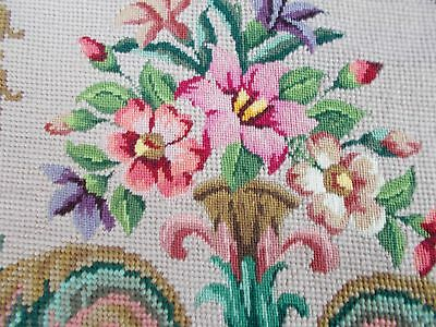 4 x Vintage Lovely hand stitched Needlepoint Tapestry Seat panels /  Cushions