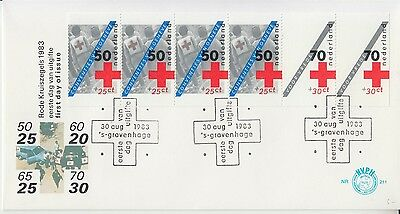 Red Cross booklet 1983 The Netherlands FDC