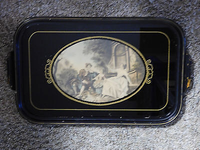 Vintage Maple Wood Trinket Tray or Small Serving Tray Glass Framed Print