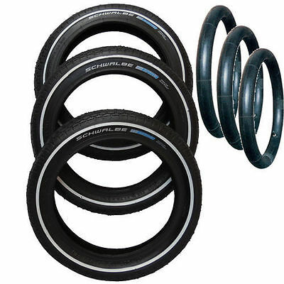"""3 x 12.5"""" Puncture Protected tyres and inner tubes for Phil and Teds Sport V5"""