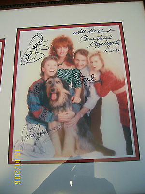 Married With Children Cast Autographs Framed-COA