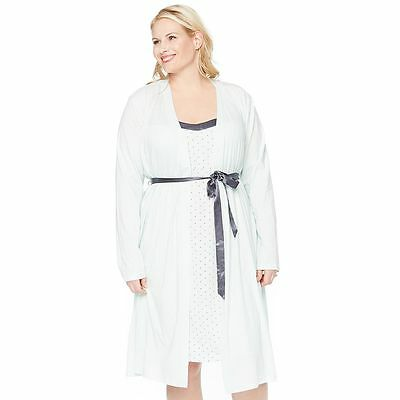 NWT Oh Baby by Motherhood Empire Waist Nursing Gown & Robe Set 1x