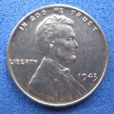 Us  Scarce Steel War Cent   1943    One Year Of Issue Only       Circulated