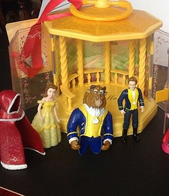 New Disney Store Beauty And The Beast Gazebo PlaySet Polly Pocket