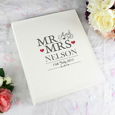 Personalised Contemporary Mr & Mrs Couples Photo Album Wedding Anniversary Gift