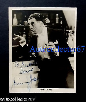 Actor Comedian JIMMY JAMES signed AUTOGRAPH photo Music Hall Theatre