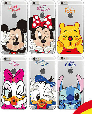 FUNDA CARCASA SILICONA TPU iPHONE 7 PLUS + MICKEY, DONALD, MINNIE DISNEY