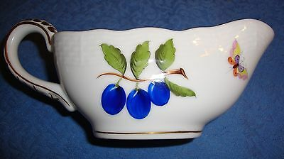 Herend Sauce Boat in Fruits and Flowers Motif