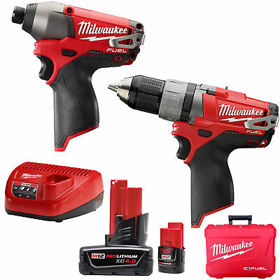 M12 FUEL Hammer Drill Impact Combo Kit Milwaukee 2597-22 New