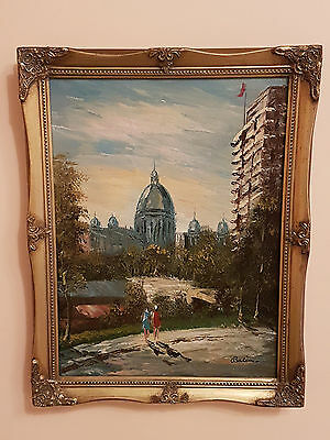 Vintage Oil Painting On Canvas Signed