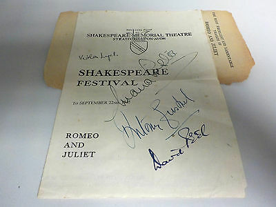 Shakespeare Festival : Romeo And Juliet - VERY RARE SIGNED PROGRAMME