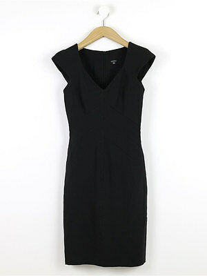 Joseph Womens Black Linen Dress Size 0 (Uk 6)