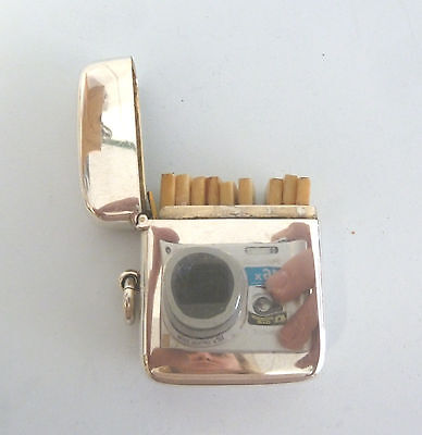 SOLID Silver SHOOTING PEG Case with 9 Peg or Butt Markers Chester 1913.