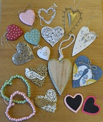 Hanging Hearts Vintage Style Shabby Chic Home Decoration Wedding Love