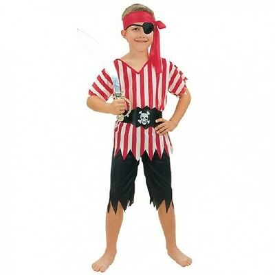 Pirate Fancy Dress Up Costume Boys Girls Child's Kids Outfit