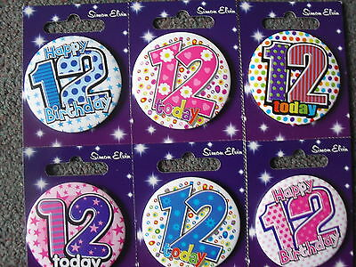 12th Birthday Badge