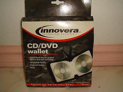 Innovera 73024 CD/DVD Wallet, Holds 24 Disks, Black by Innovera